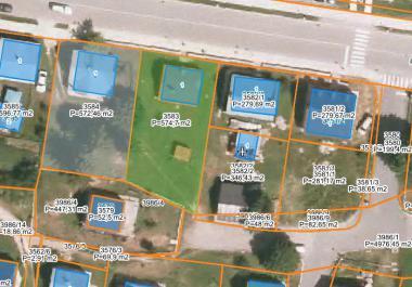 2 земельных участка в центре Жабляка под строительство 4-этажного дома 1100 м2